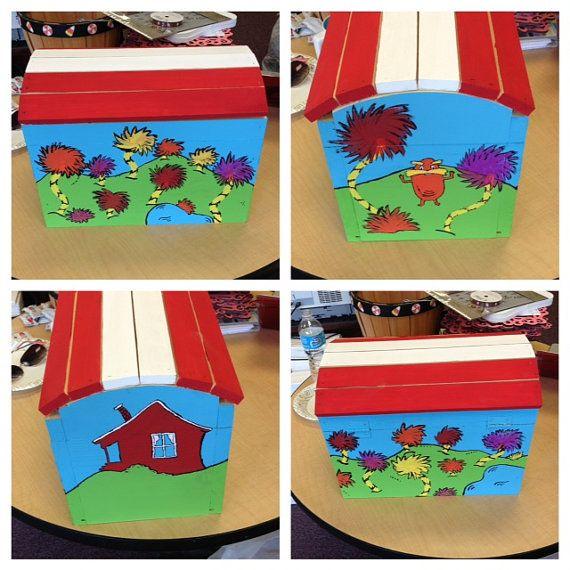 How To Decorate A Treasure Box Dr Seuss Treasure Chest  Perfect For Teacher Classroom Bedrroom