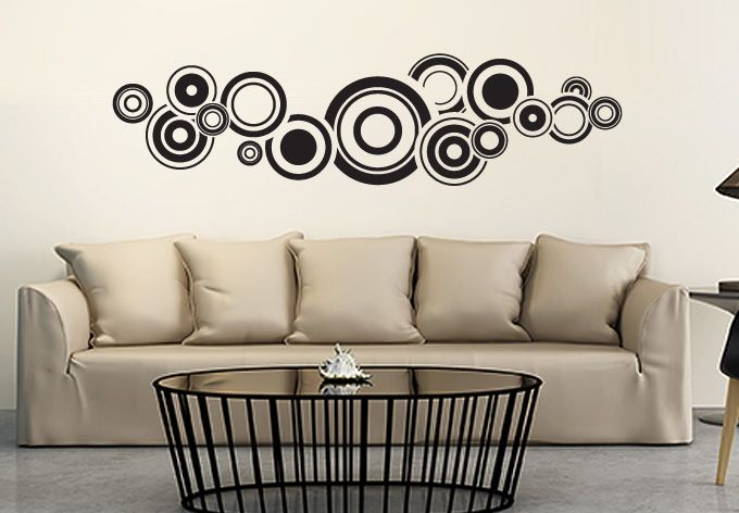 Wall Decals - Retro Bubbles Wall Sticker - Fantastic Circle Vinyl