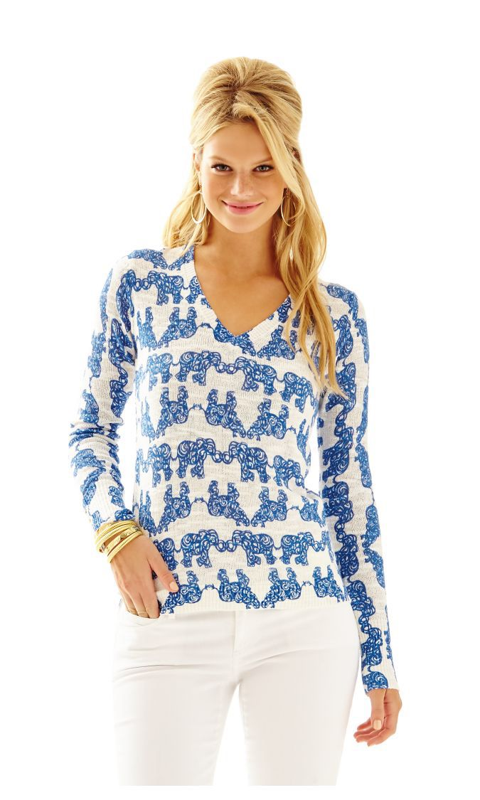 8cd54359e7f128 Check out this product from Lilly - Edie Printed Pullover Sweater http://www