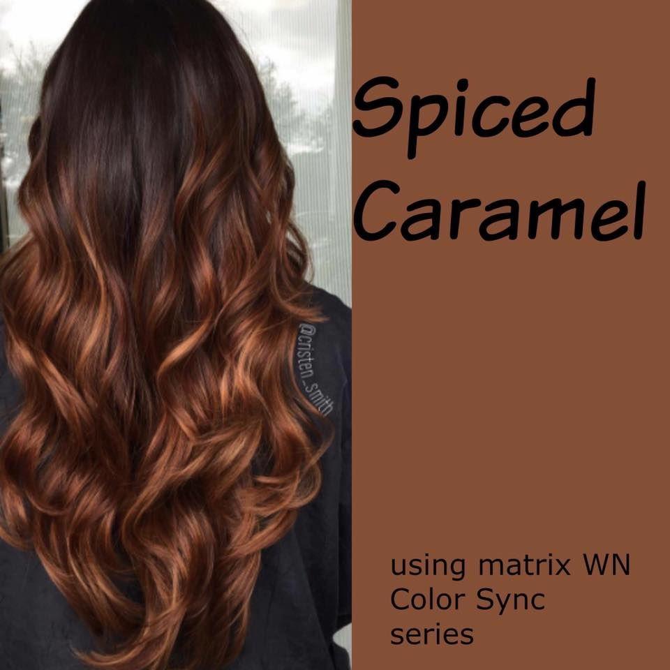 spiced carmel hair color clothes