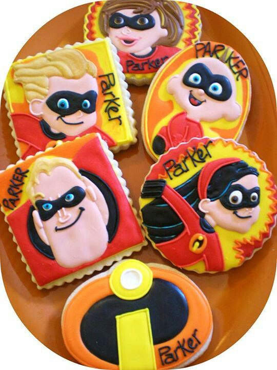 Mr Incredible Cookies Incredibles Birthday Party Aladdin