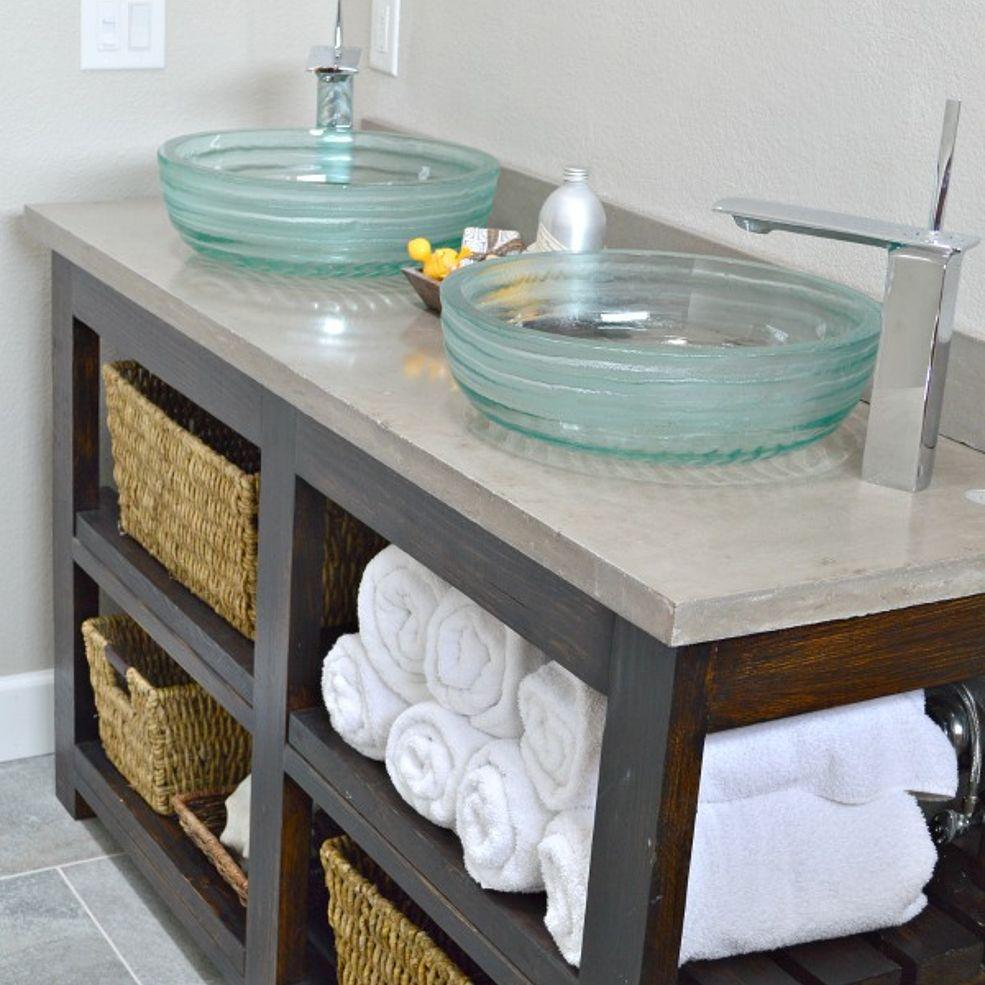 Build An Open Shelf Bathroom Vanity Refurbishing Ideas