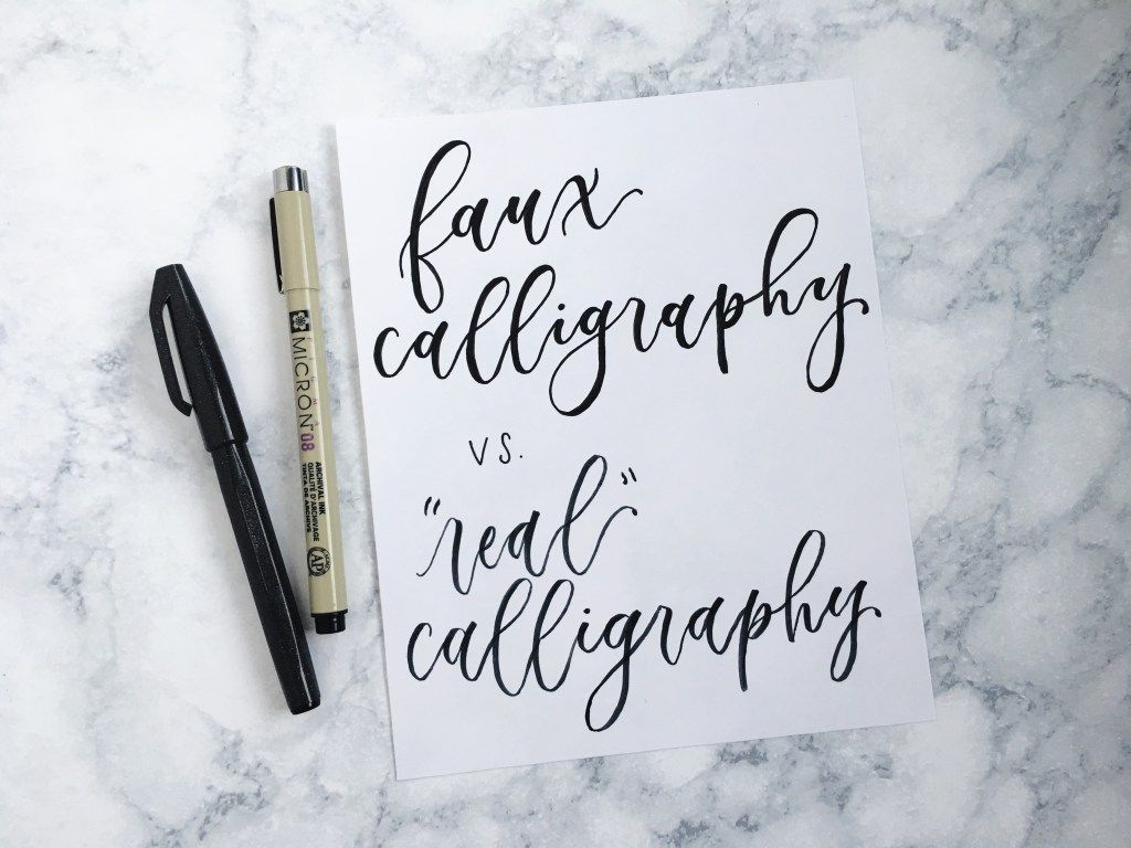 Step By Step Guide To Faking Calligraphy Like A Pro