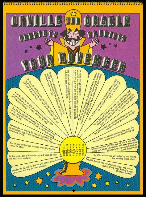 Psychedelic Hallmark Calendar 1970 11 71 By Mewdeep Via Flickr