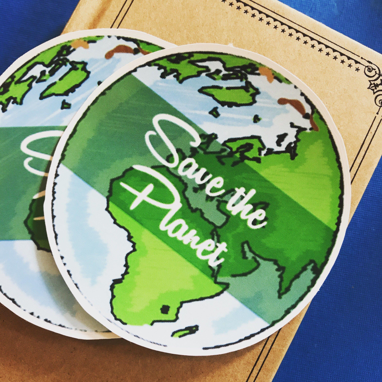 Save The Planet Vinyl Sticker Peace Hand Sticker Scrapbooking Hippie Decal Earth Bumper Sticker Laptop Environm Hand Sticker Vinyl Sticker Bumper Stickers [ 3000 x 3000 Pixel ]