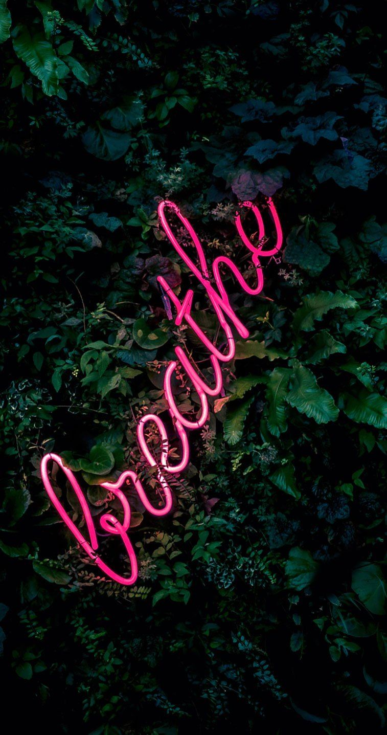 Breath neon light iPhone wallpaper Download the perfect