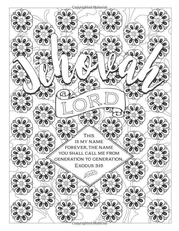 Color the Names of God (Color the Bible): Marie Michaels ...