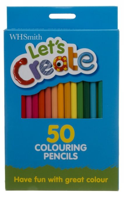 Qty: 3 Packs WHSmith Let\'s Create Assorted Colouring Pencils (Pack ...