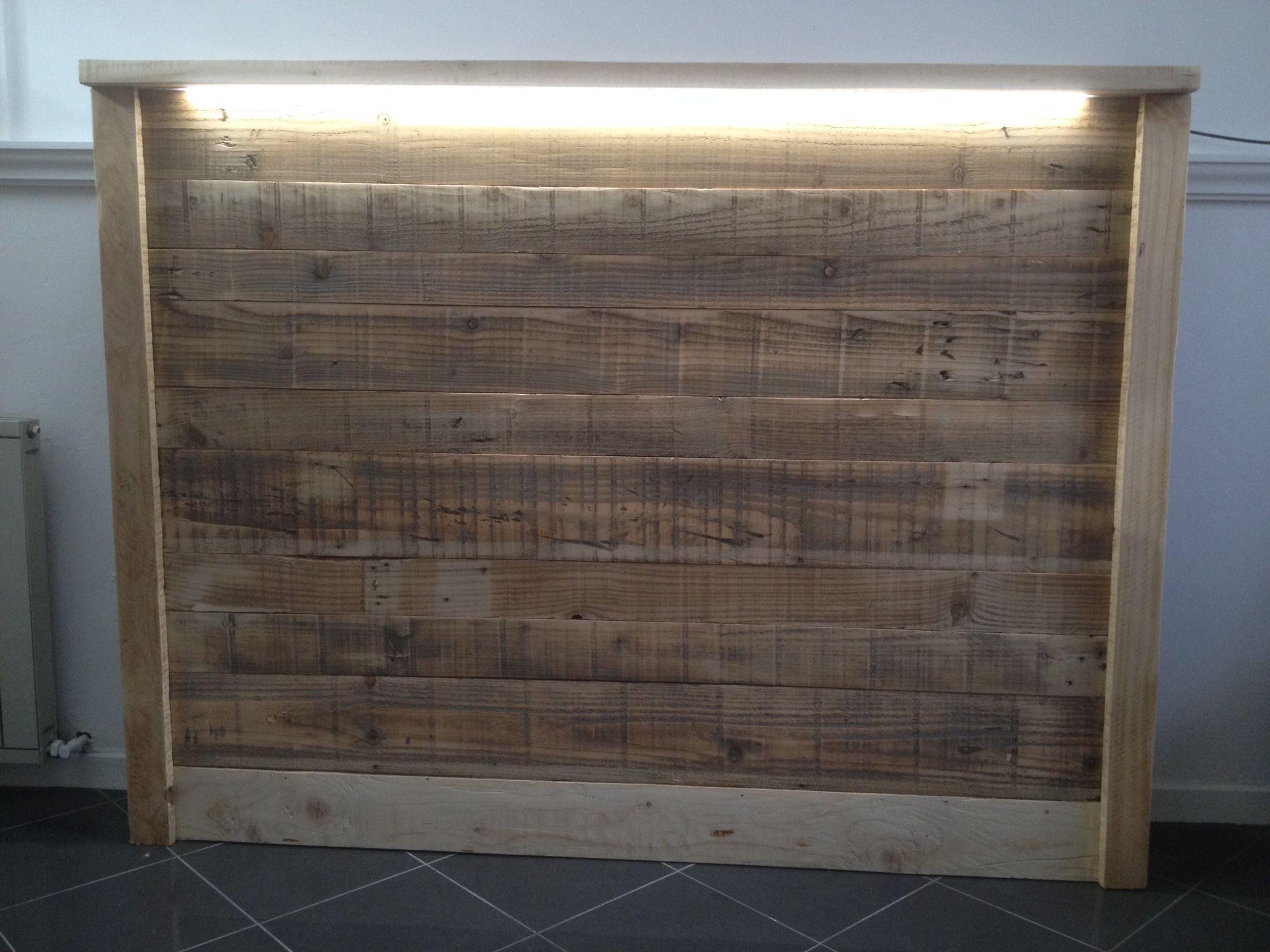 Led Tete De Lit tête de lit en bois de palette led wooden bedhead led | tête