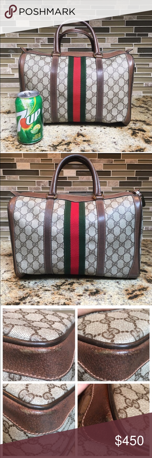 Authentic Vintage Gucci Boston Speedy Bag From 70s The