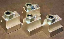 T-Slot Fixture Clamps - Homemade T-slot fixture clamps fabricated