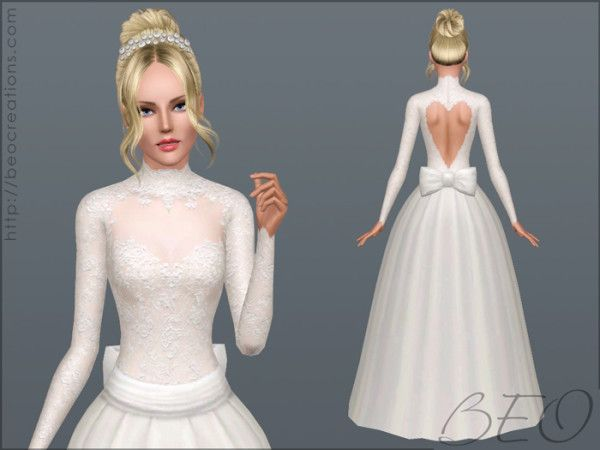 Valentines Wedding dress by BEO for Sims 3 | Sims 3 | Pinterest