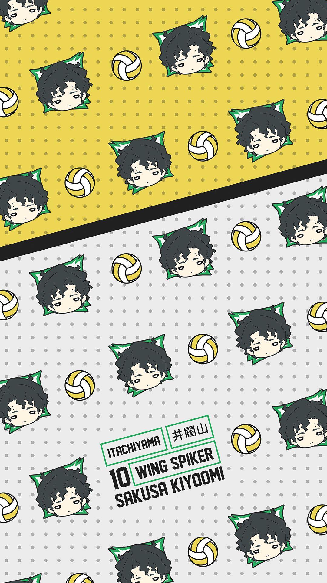 Sakusa Kiyoomi Pattern Wallpaper - Itachiyama - Click to Shop Haikyuu Merch With this Design