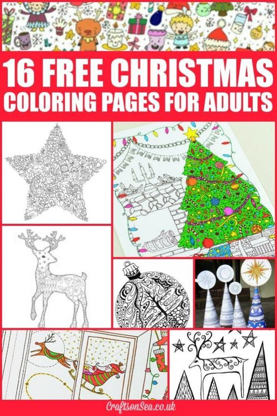 Free Christmas Coloring Pages For Adults Color Me Paint Me