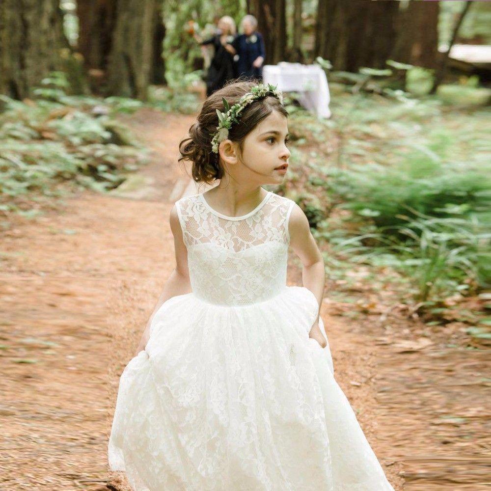 Fashion peplum kids a line applique wedding girls flower dresses