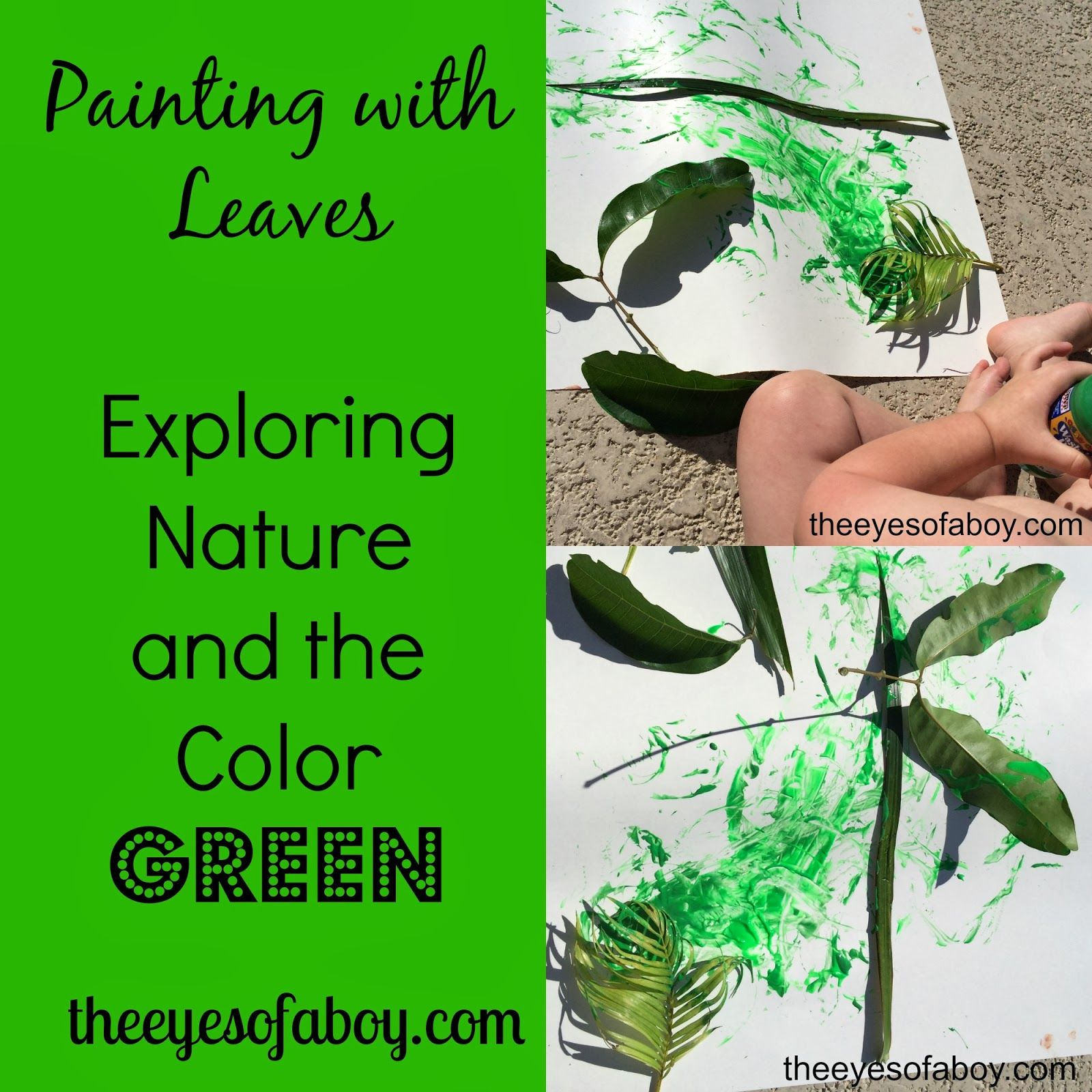 Painting with Leaves - Exploring Nature and the Color Green with ...