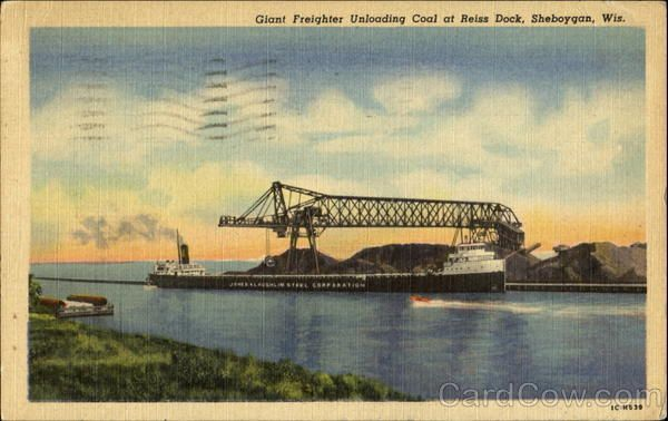 Reiss coal docks in Sheboygan, Wis.   Sheboygan, Sheboygan