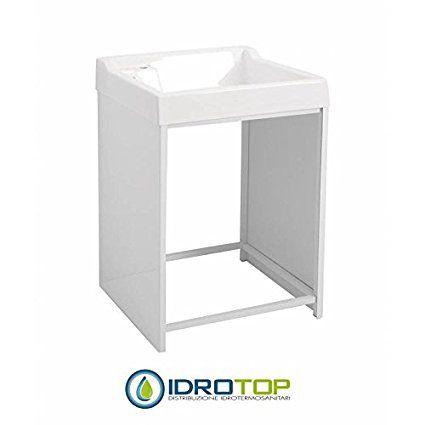 Mueble para exterior lavacril on 72 x 66 para lavadoras estructura de aluminio lavabo abs en - Mueble para lavadora exterior ...