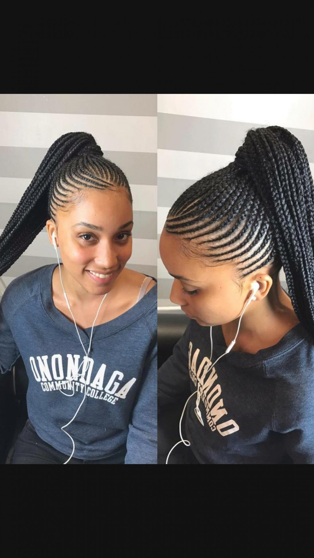 Scalp Braids Ponytail Hair Styles Cornrow Hairstyles Braided Ponytail Hairstyles