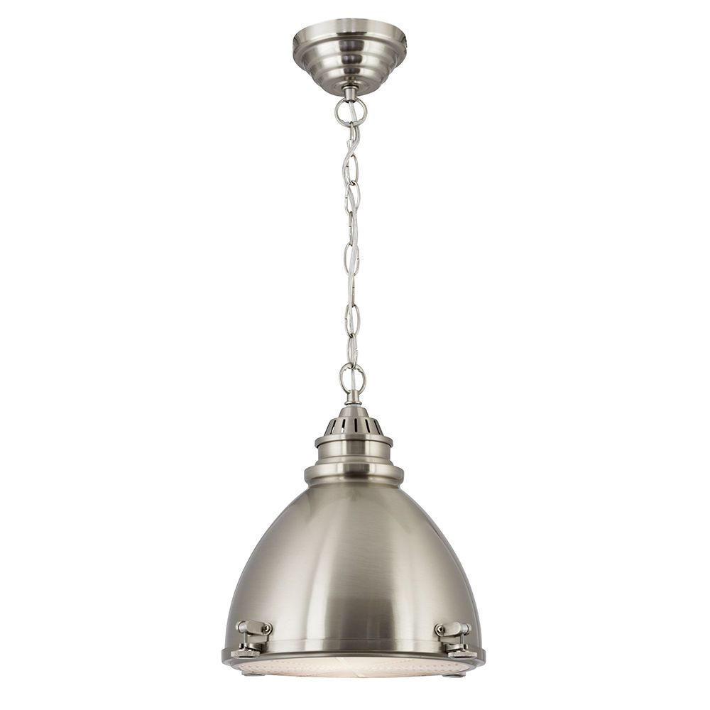 Searchlight 1 light satin nickel dome pendant ceiling light with searchlight 1 light satin nickel dome pendant ceiling light with glass diffuser aloadofball Gallery
