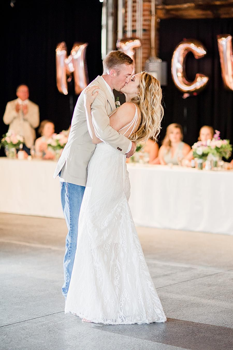 This Springtime Wedding In Dayton Ohio Featured Gorgeous Pastels Rose Gold Accents And A Wedding Dresses Lace Groom In Jeans Knoxville Wedding Photographer