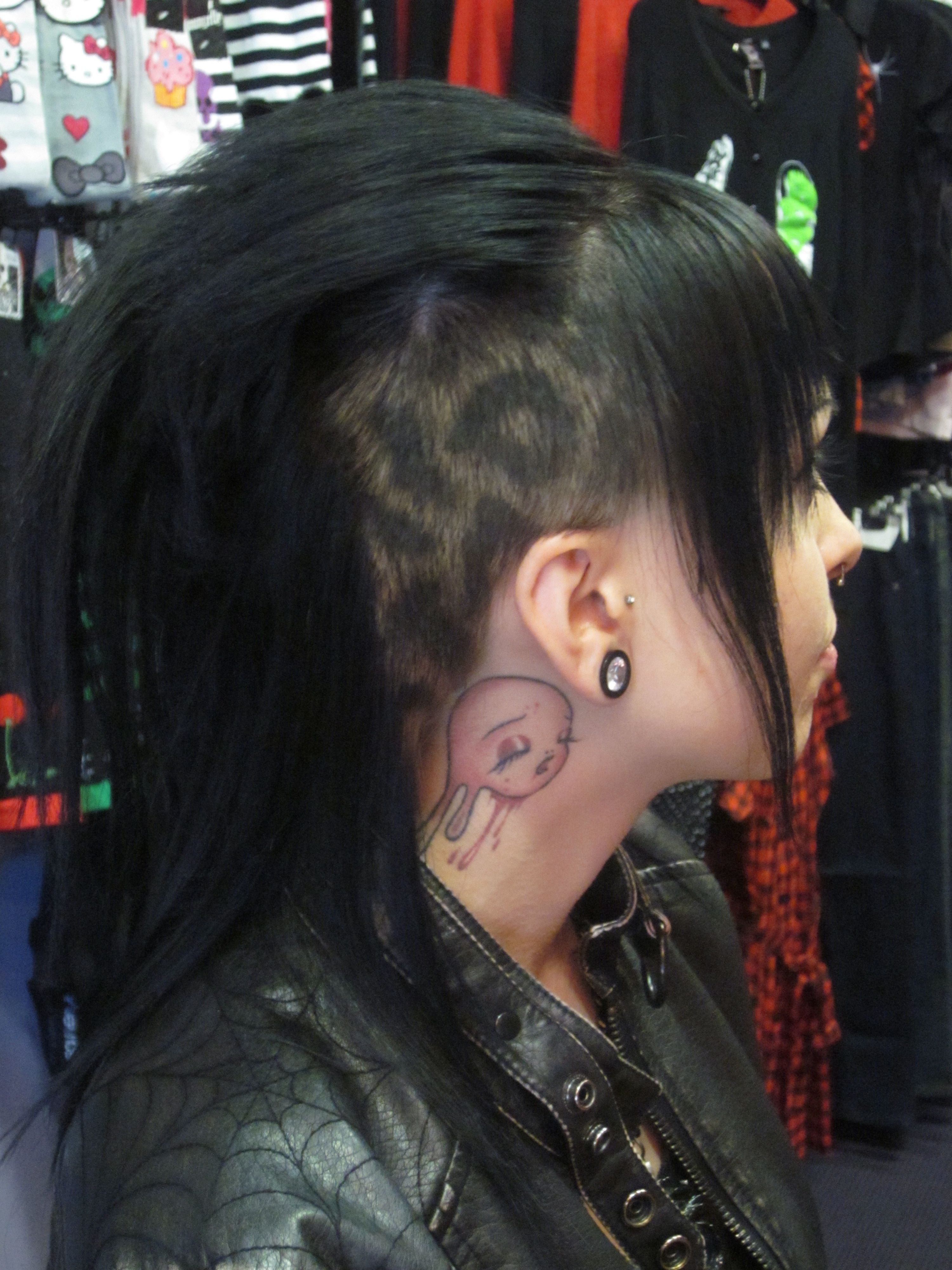 side shave/undercut with leopard print | animal print hair