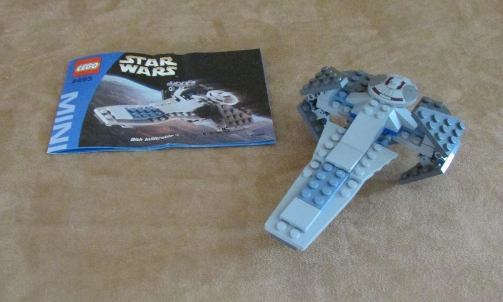 4493 Lego Complete Star Wars Mini Building Sith Infiltrator ...