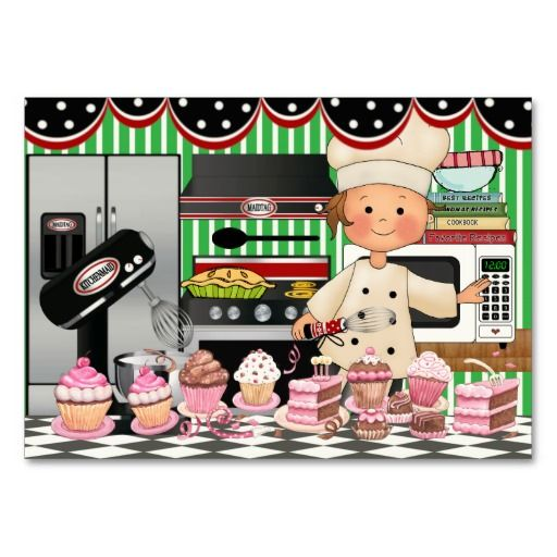 The happy chef srf business card cupcake pinterest for Articulos de chef