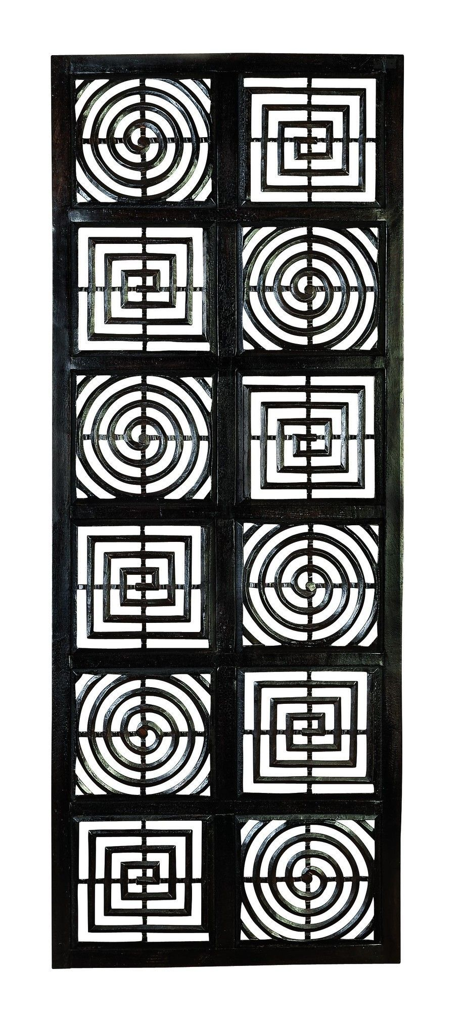 Squares and circles hand carved wall décor products pinterest