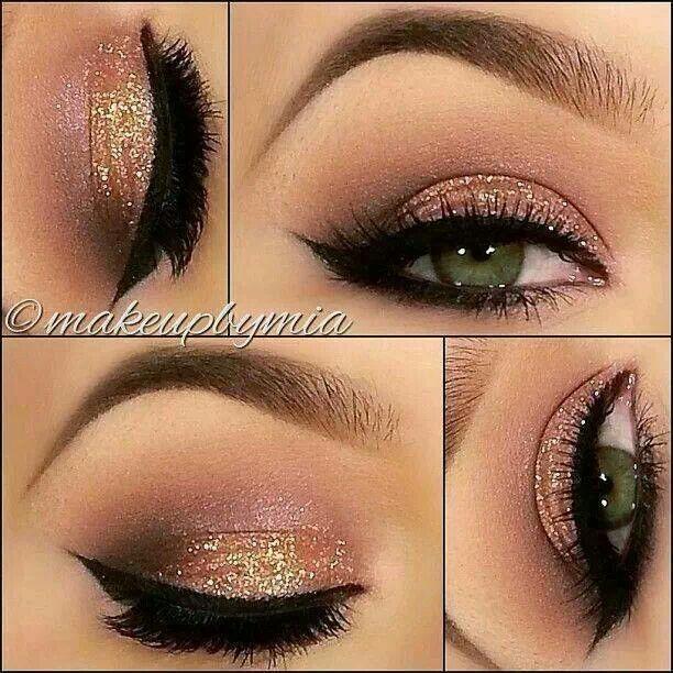 Purple Gold Eyeshadow For Hazel Eyes Glitter Eye Makeup Glitter