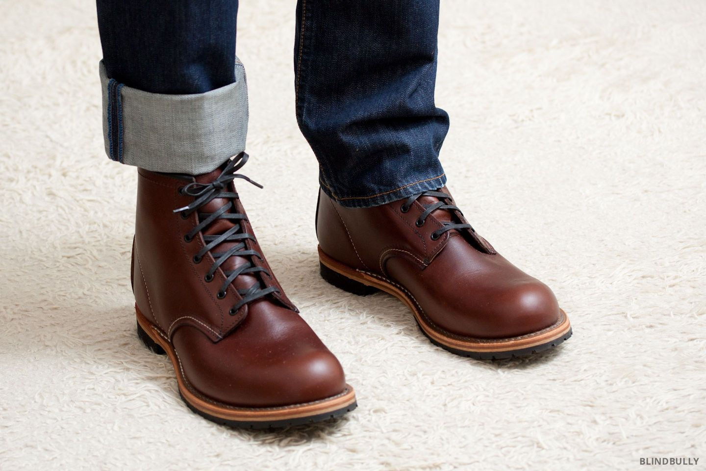 Red Wing Heritage Boots Beckman round toe 6 9016 Cigar Featherstone