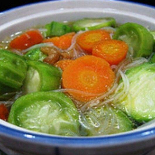 Sayur Oyong Gambas Resep Masakan Resep Sup Masakan