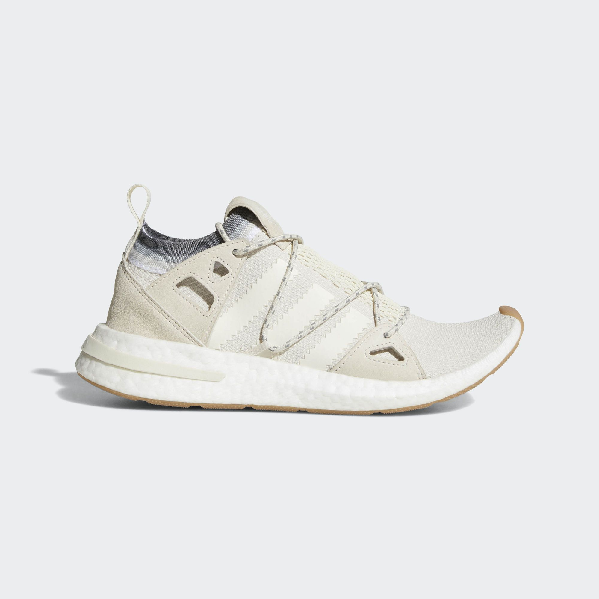 b4f9c4f3ceb adidas UltraBOOST Laceless in White   Red