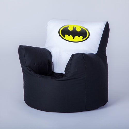 Pleasing Batman Logo Character Childrens Kids Bean Bag Chair Seat Machost Co Dining Chair Design Ideas Machostcouk
