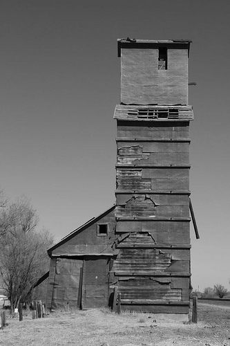 Gage Oklahoma Grain Elevator Abandoned Buckets And Castles