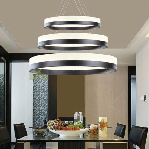 3 Rings Pendant Light Circles Chandelier Dining Room Ceiling Lamp Led Lighting 3 Rings Pend Led Dining Room Lighting Bedroom Light Fixtures Circular Chandelier