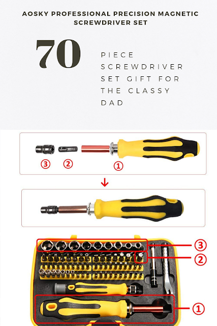 Professional Precision Screwdriver Set by Aosky
