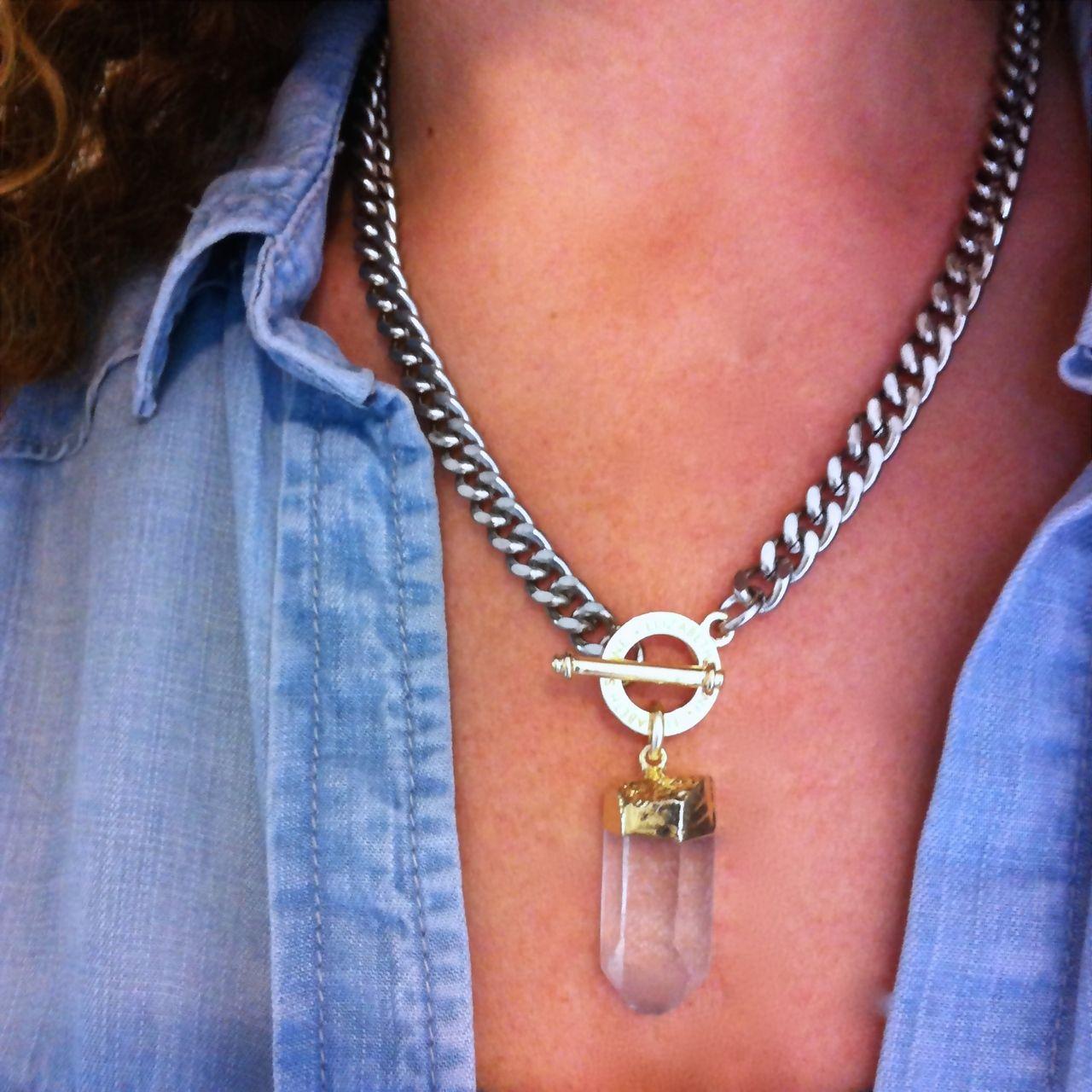 Elizabeth Stone Jewelry - Glam Rock Crystal Necklace, $58.00 (http://www.elizabethstonejewelry.com/glam-rock-crystal-necklace/)