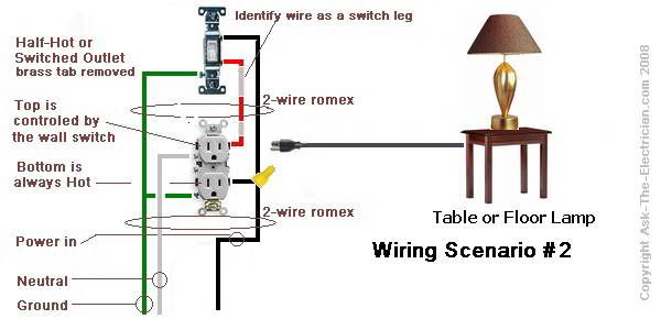 switched outlet wiring diagram building stuff electrical outlets