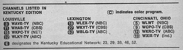 Kentucky Edition August 22 1970 Tv Guide Tv Guide Listings Kentucky