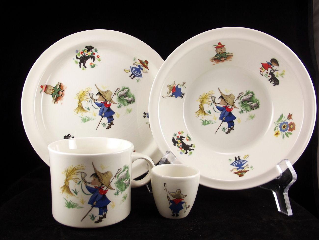 Vintage Arklow pottery Ireland childs dinnerware set $15.00 by celticecho on bonanza & Vintage Arklow Pottery Ireland child\u0027s dinnerware set 4 pieces ...