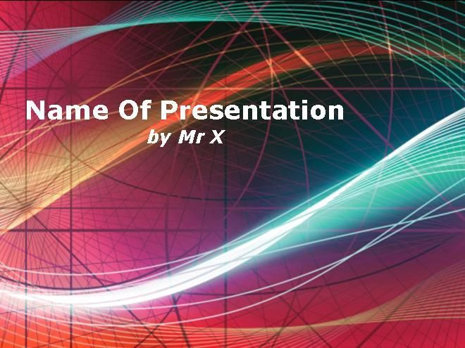 Multicolored abstract design powerpoint template presentaciones a powerpoint template with an abstract background with multiples rainbow curves with a beautiful light effect this presentation template includes 1 master toneelgroepblik Images