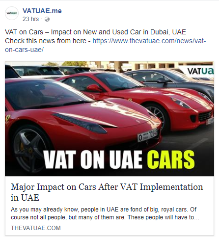 Major Impact On Cars After Vat Implementation In Uae Uae Cars