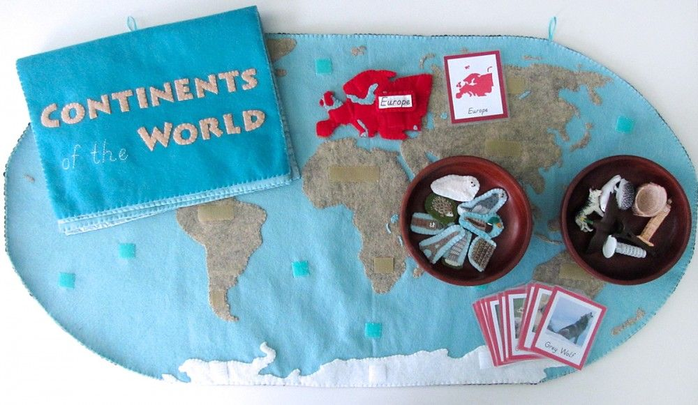 Projecte continents montessori escola pinterest europa pendientes gumiabroncs Choice Image