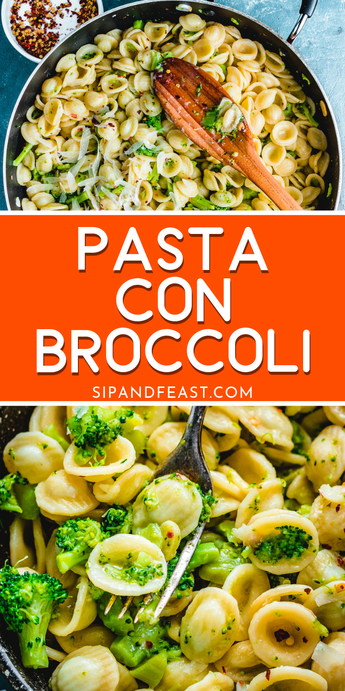 Pasta with broccoli is a super hearty and comforting recipe. The broccoli is cooked in the pasta ...