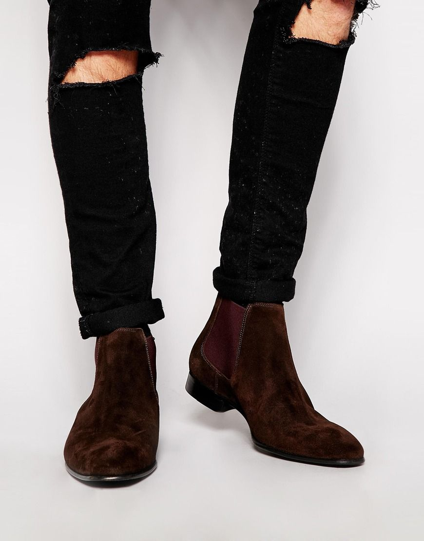 Image 1 of PS by Paul Smith Falconer Suede Chelsea Boots