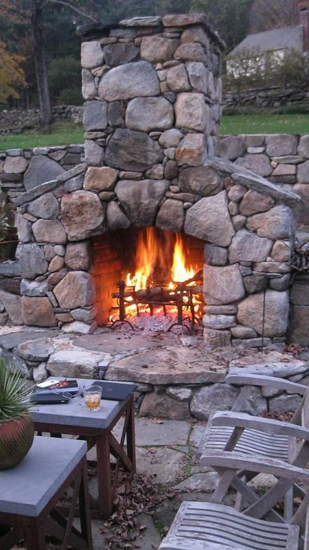 giant fieldstone fireplace | fieldstone fireplace. Stone was picked from the walls on ...