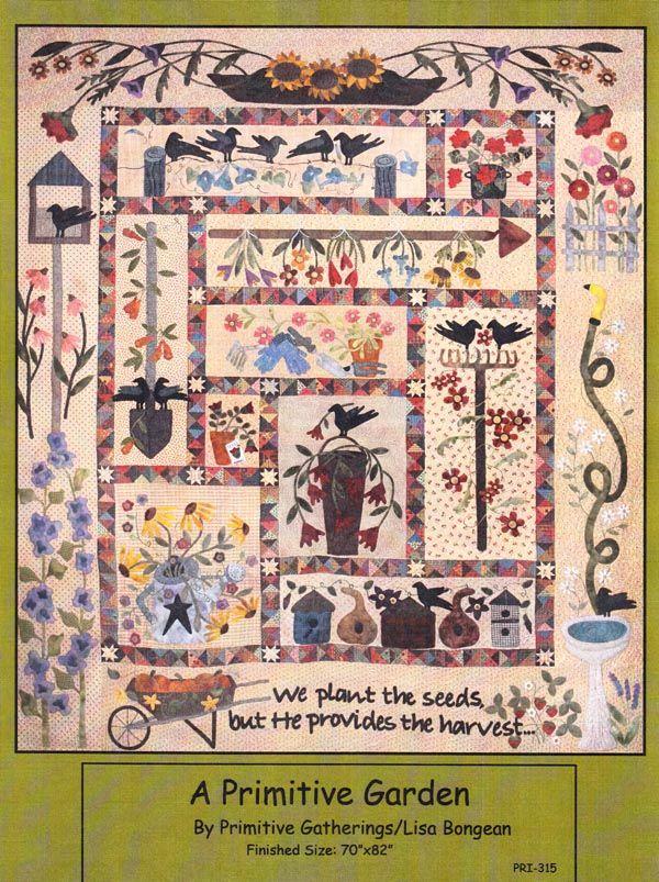 A Primitive Garden The Quilted Crow Quilt Shop Wool Applique Quilts Quilts Applique Quilts