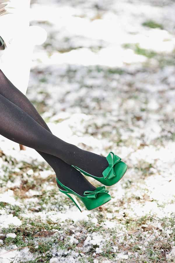 St. Patrick's Day wedding ideas #green #emerald // shoes [JJ Horton Photography for J.Leigh Events]