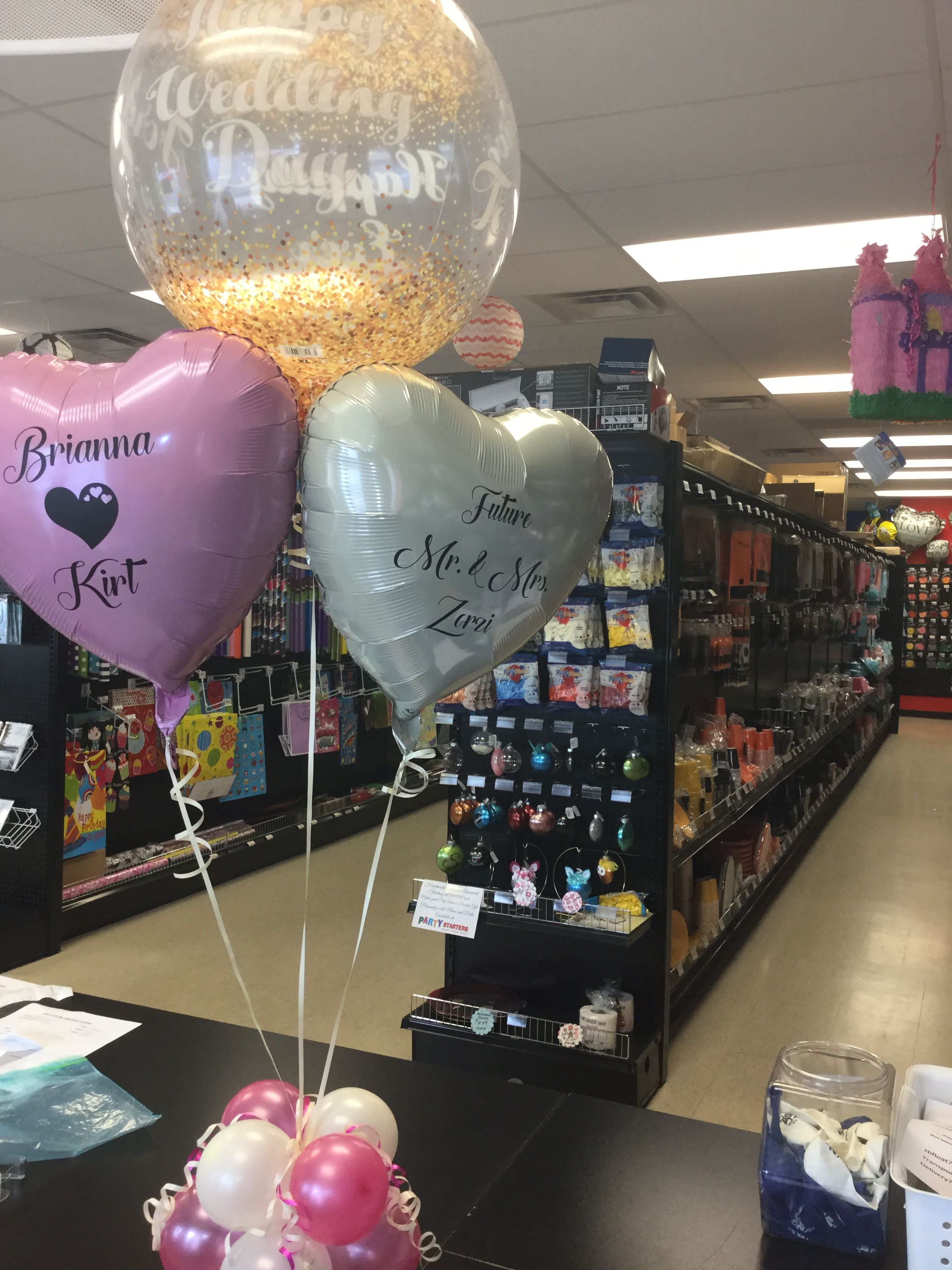 Wedding Balloons Personalized Balloon Centerpieces